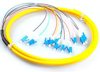 China LC / UPC Fiber Optic Jumper Cables , G657A Yellow Simplex Fiber Patch Cord supplier